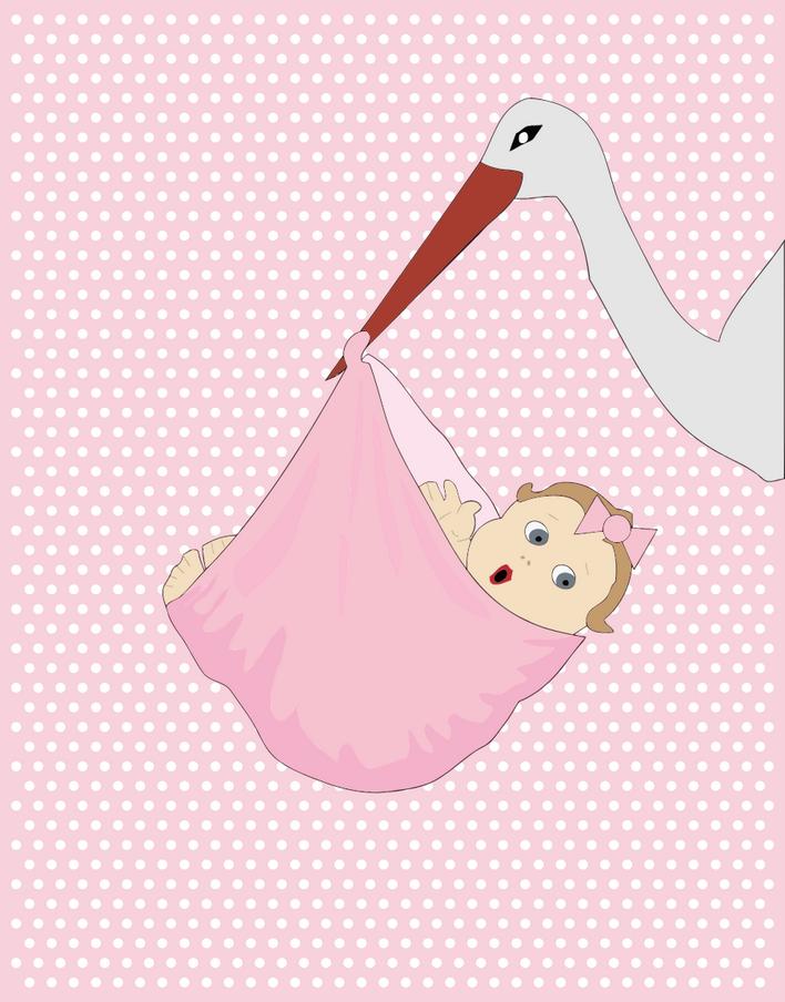 Přání k narození dítěte, blahopřání ke stažení - dítě přáníčko